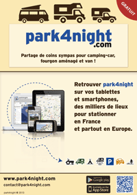 park4night : Share the nice spots where you like to relax with your camper, your equipped van or normal van.