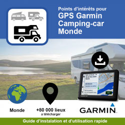 POI GPS - Garmin - Camping...