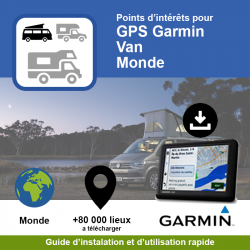 POI GPS - Garmin - Van - Monde